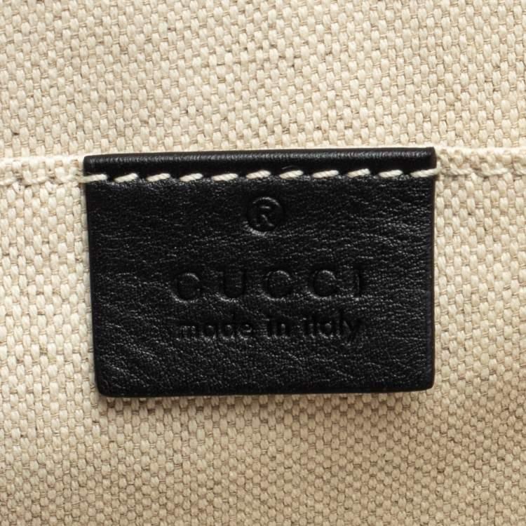 Gucci Black Crystal Embellished Leather Large Dionysus Bamboo Top Handle Bag