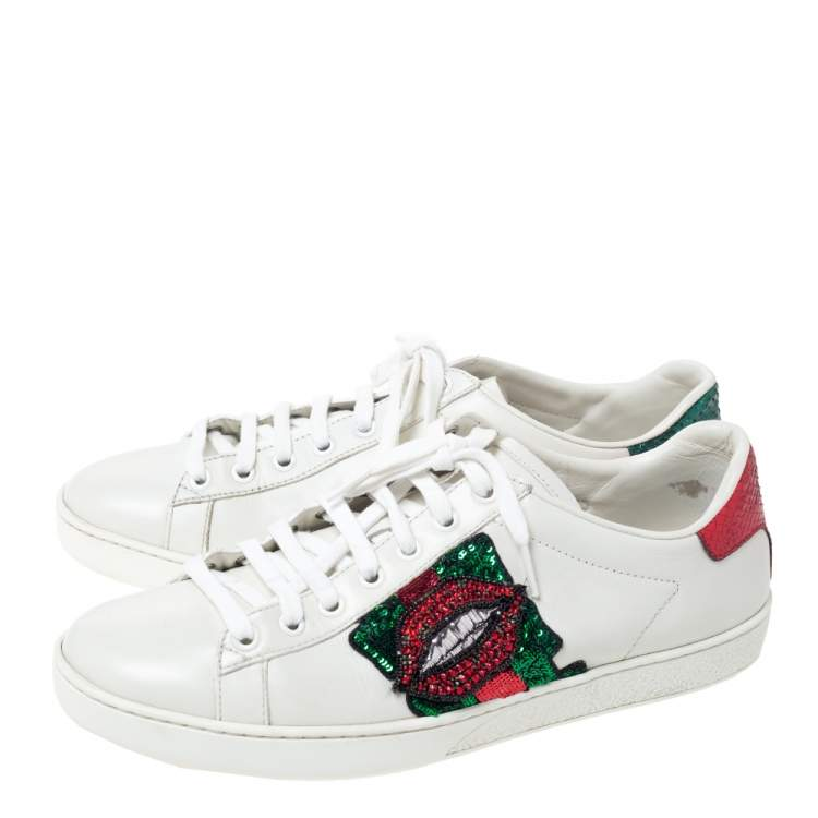 Crystal Lips Ace Low Top Sneakers Size