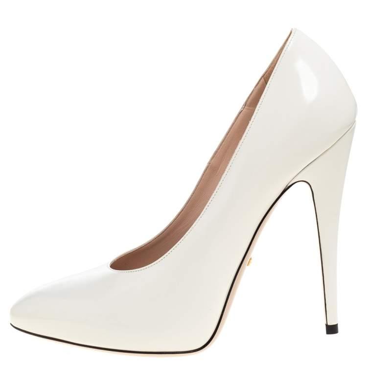 Gucci White Leather Pumps Size 39 Gucci