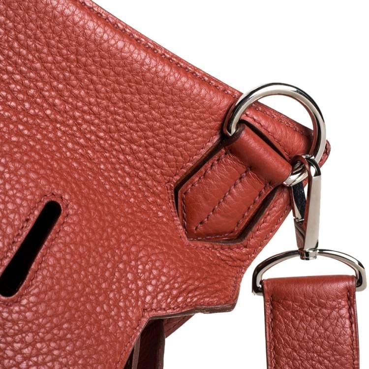 Hermes Cuivre Clemence Leather Palladium Hardware Jypsiere 34 Bag