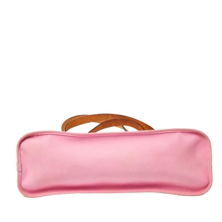 Hermes Rose Pink Canvas Cabag Elan Tote