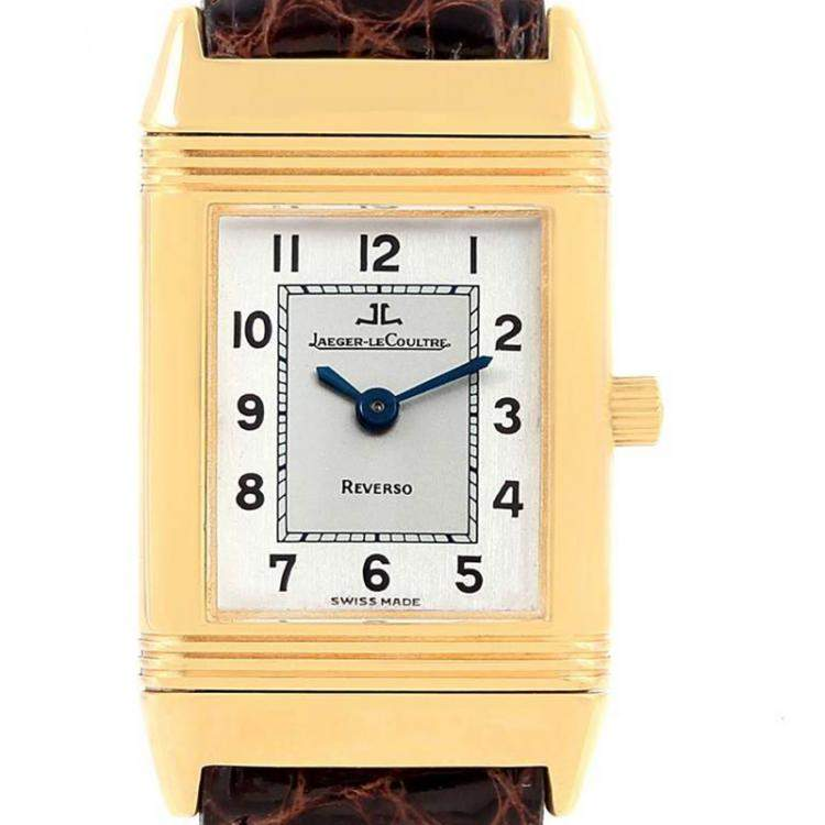 Jaeger LeCoultre Two-Tone Silver 18K Yellow Gold Reverso Classique 260.1.86 Women's Wristwatch 20.5MM