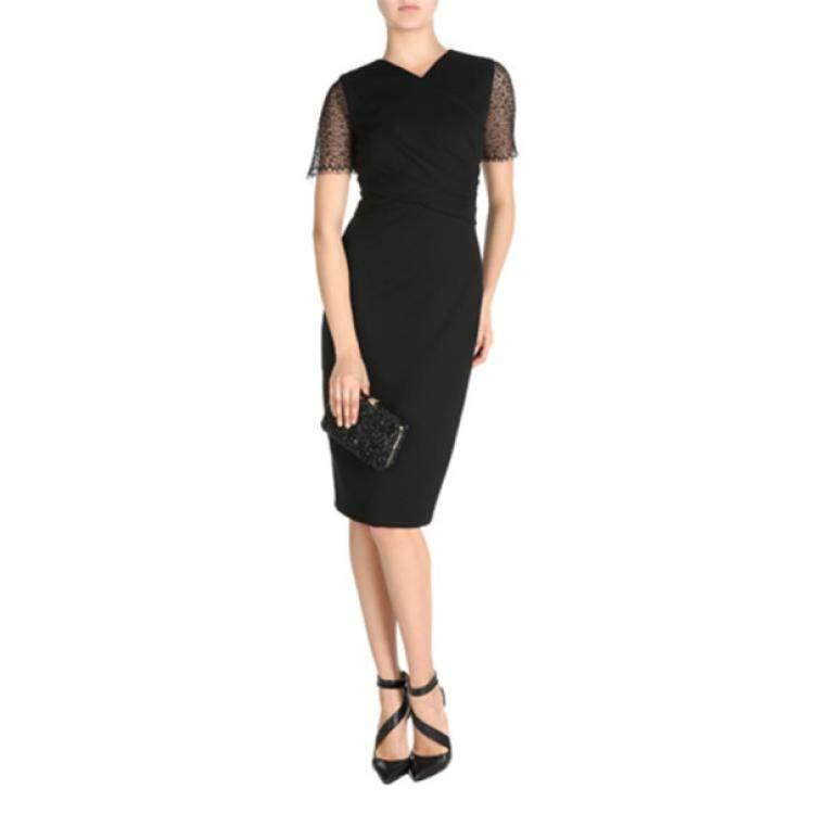 Jason Wu Black Lace-Detailed Dress M