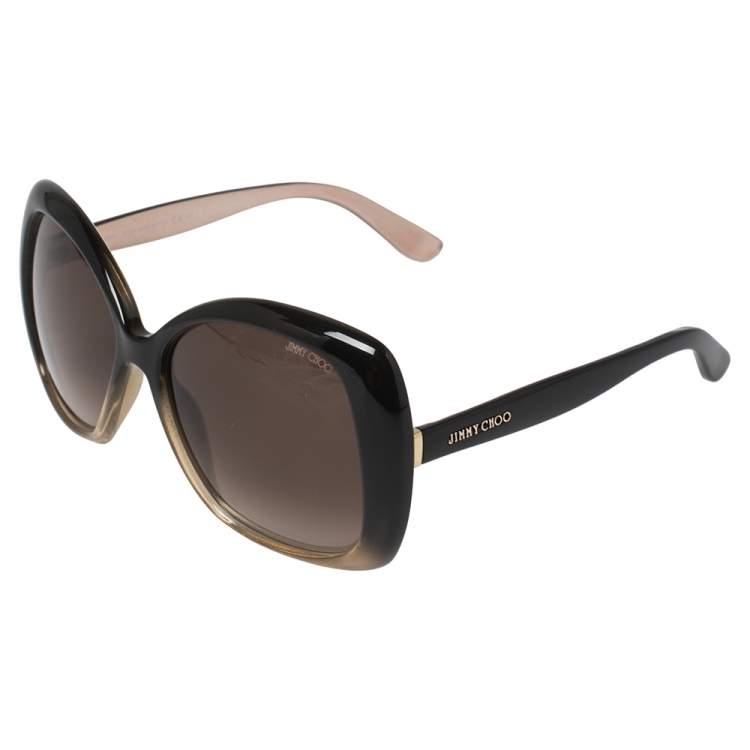 Jimmy Choo Black Degrade /Brown Gradient Marty/S Oversized Sunglasses