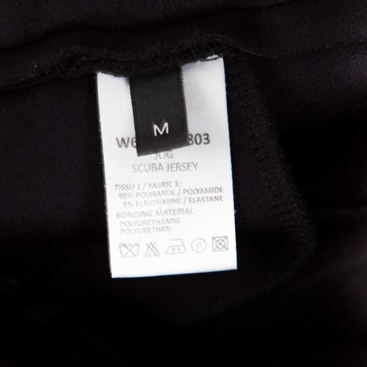 Joseph Black Contrast Side Panel Detail Jug Scuba Jersey Pants M