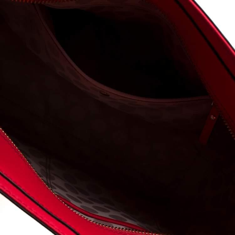 Kate Spade Red Leather Cedar Street Hayden Tote