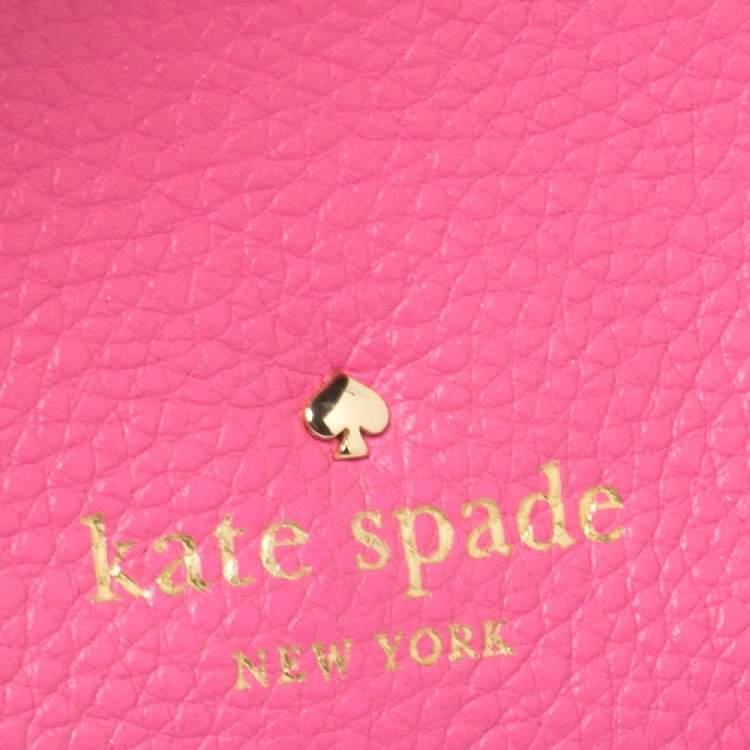 Kate Spade Pink Leather Flap Crossbody Bag