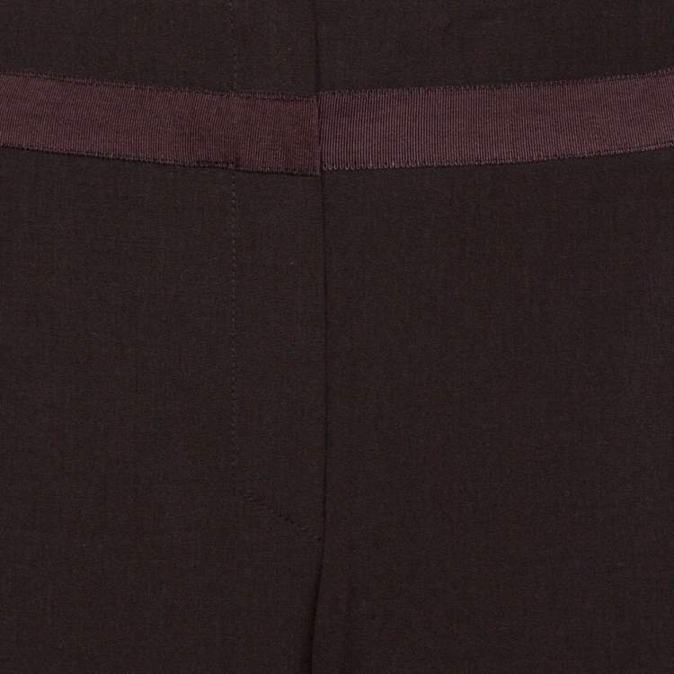 Kenzo Brown Wool Wide Leg Trousers L