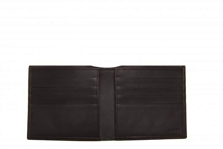 Loewe Black Leather Anagram Bifold Small Wallet