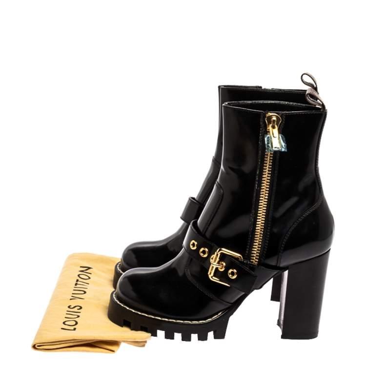 Louis Vuitton Black Leather Buckle