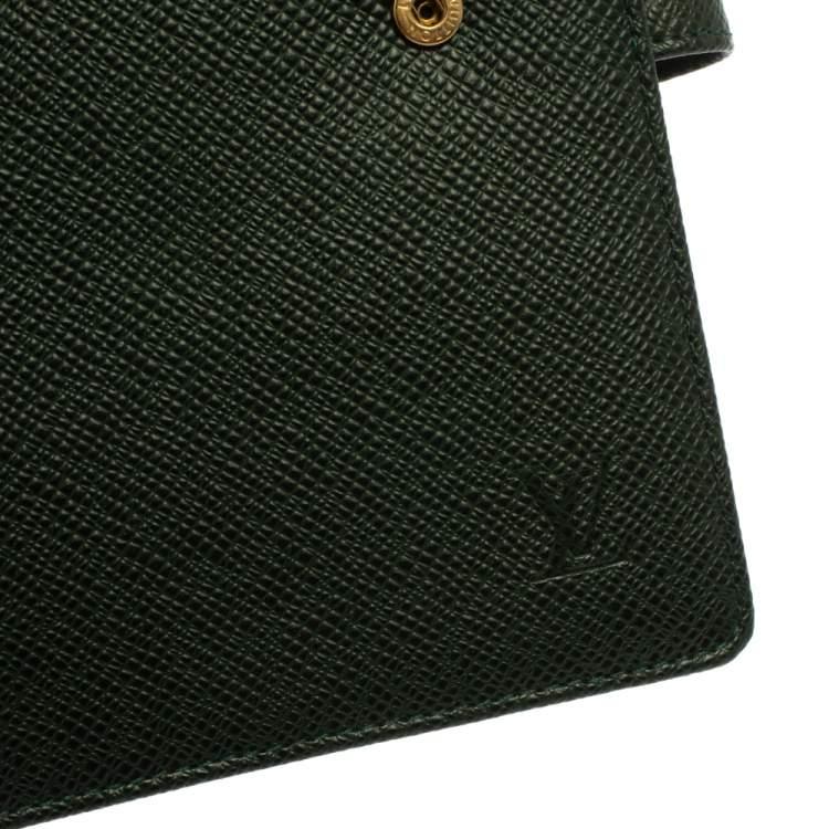 Louis Vuitton Green Taiga Leather Agenda Planner Cover GM