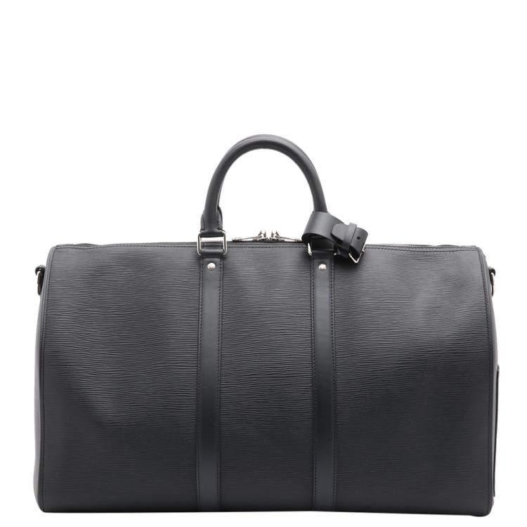 Louis Vuitton Black Epi Leather Louis Vuitton x Supreme Keepall Bandoulière 45 Bag