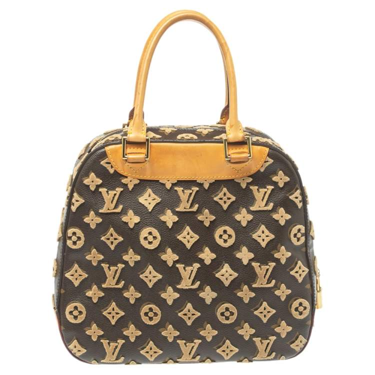 Louis Vuitton Caramel Monogram Coated Canvas and Leather Limited Edition Tuffetage Deauville Cube Bag