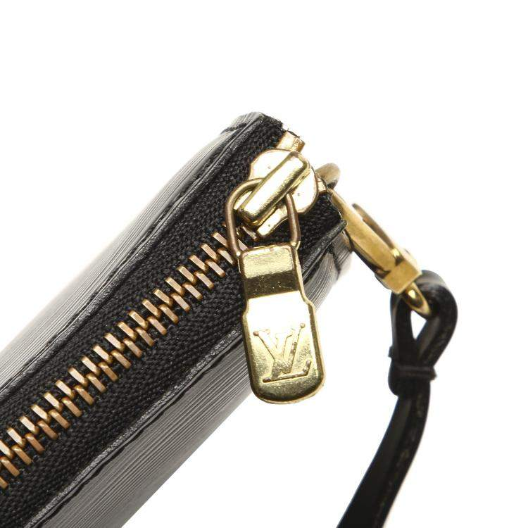 Louis Vuitton Black Epi Leather Pochette Accessoires Bag