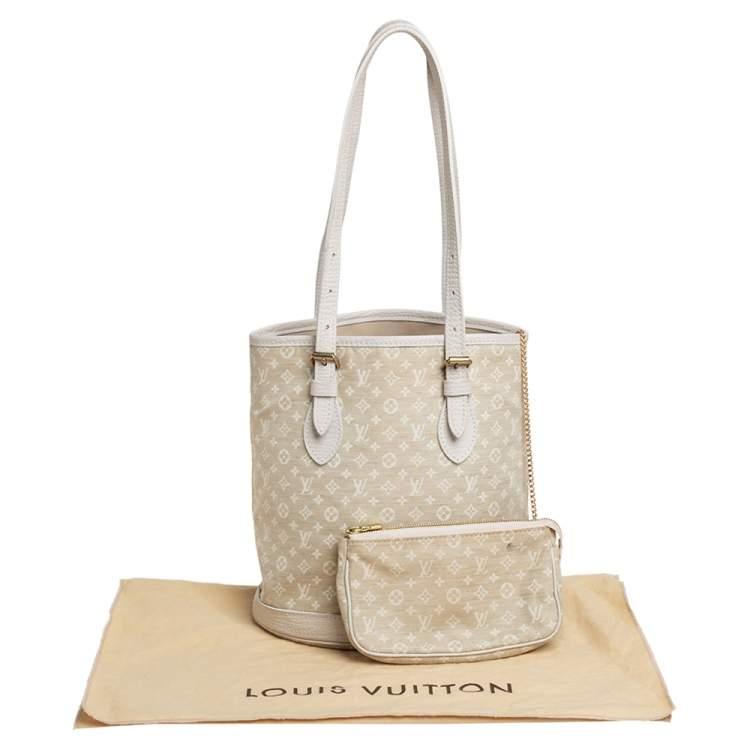 Louis Vuitton Dune Monogram Mini Lin Canvas Bucket PM Bag