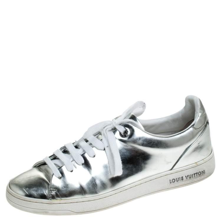 Louis Vuitton Metallic Silver Leather