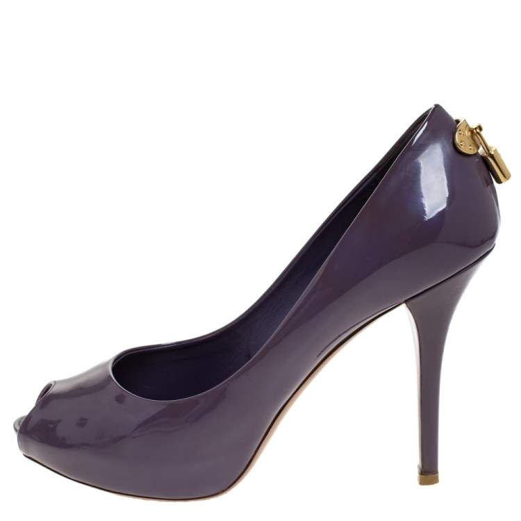 Louis Vuitton Purple Patent Leather Oh