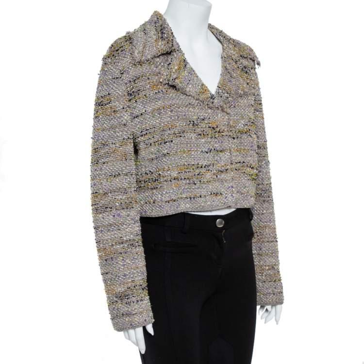 M Missoni Multicolor Tweed Cropped Blazer L