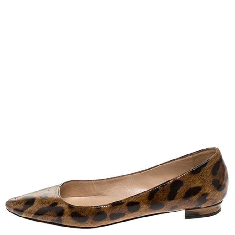 Manolo Blahnik Leopard Patent Leather