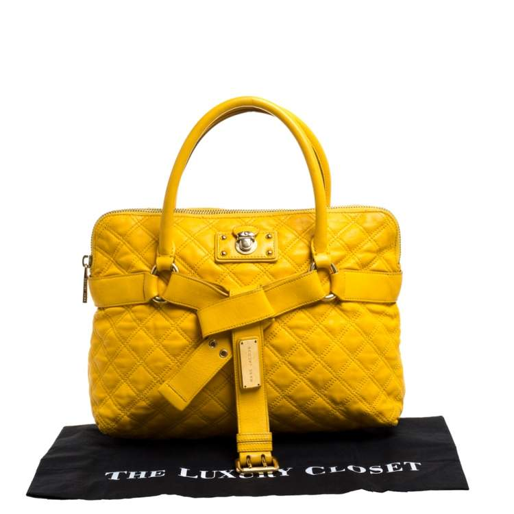 Marc Jacobs Mustard Quilted Leather Alina Satchel