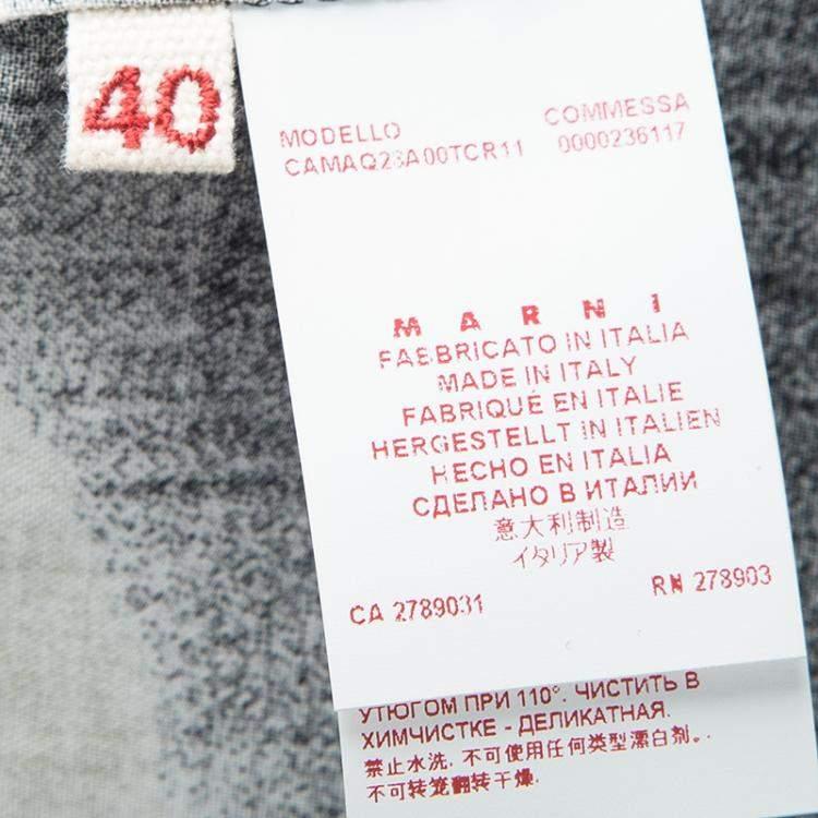 Marni Black Printed Oversized Short Sleeve Top S