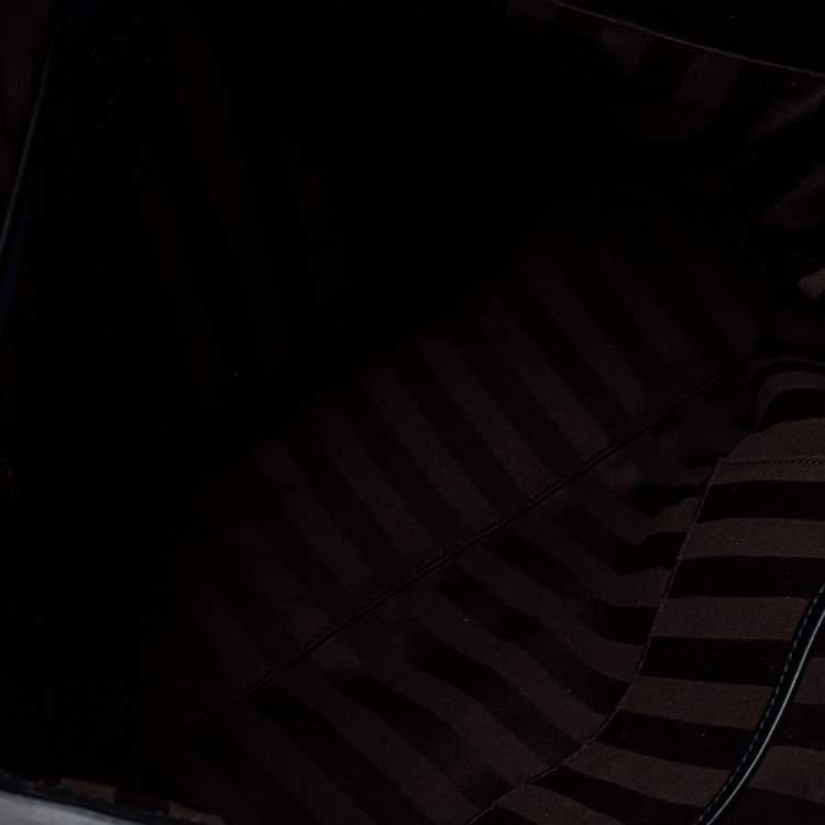 MCM Black Leather Turlock Double Flap Top Handle Bag