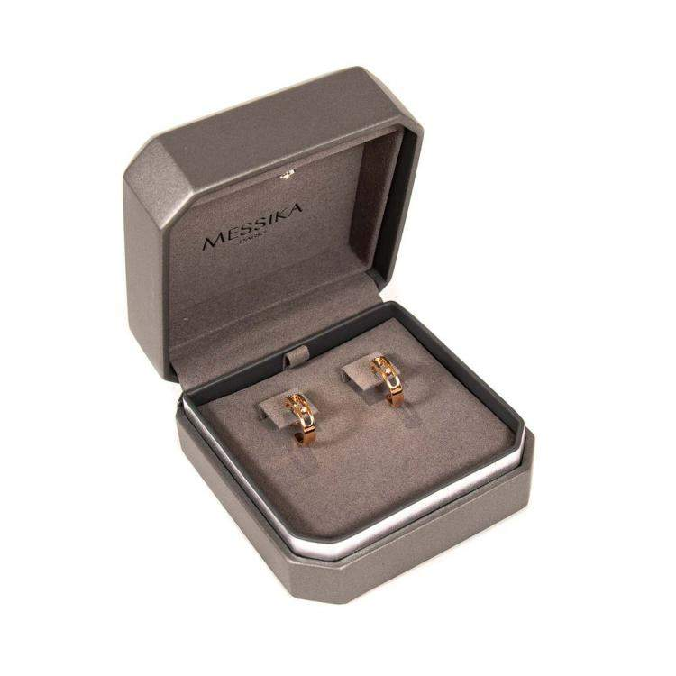 Messika Move 18K Rose Gold Diamonds Hoop Earrings
