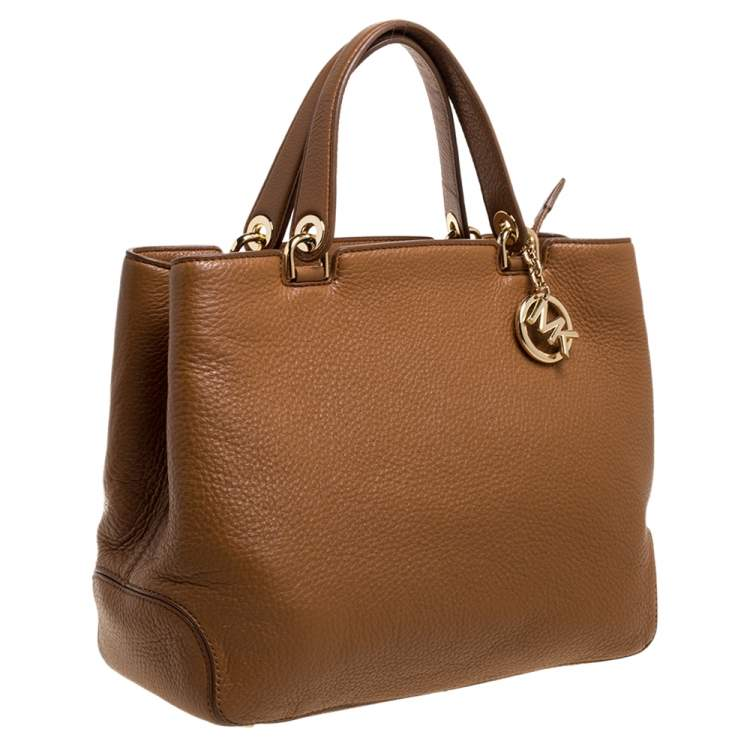 MICHAEL Michael Kors Brown Soft Leather Anabelle Mid Zip Tote