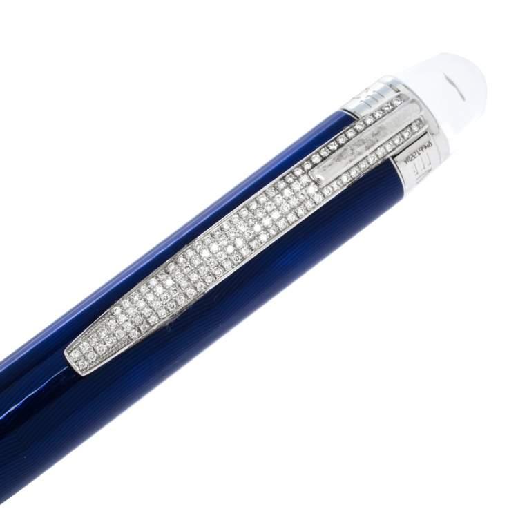 Montblanc StarWalker Cool Blue Resin Silver Tone Ballpoint Pen