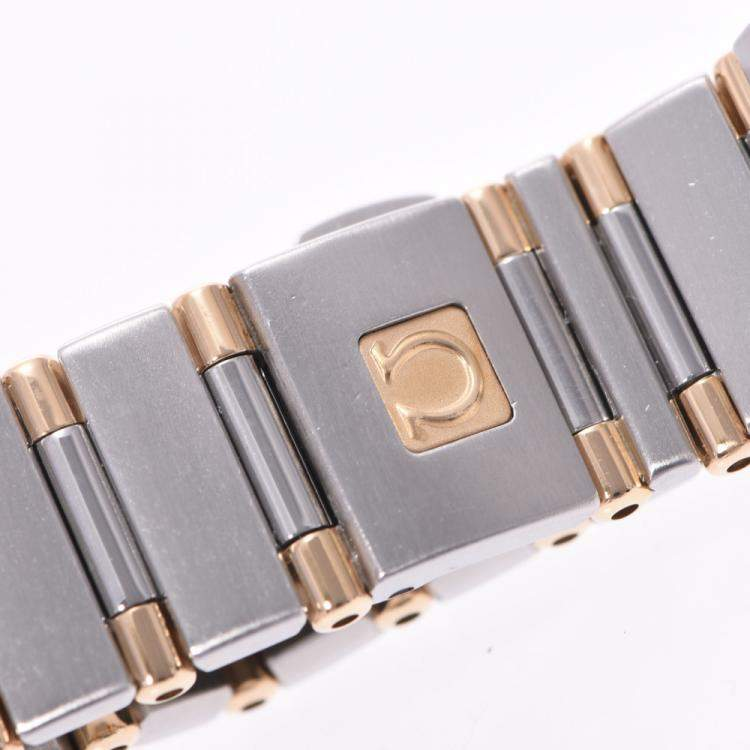 Omega White Yellow Gold And Stainless Steel Constellation 1362.70 Women's Wristwatch 22 MM