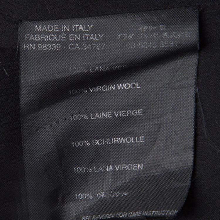 Prada Black Wool Tie Detail Tube Top M