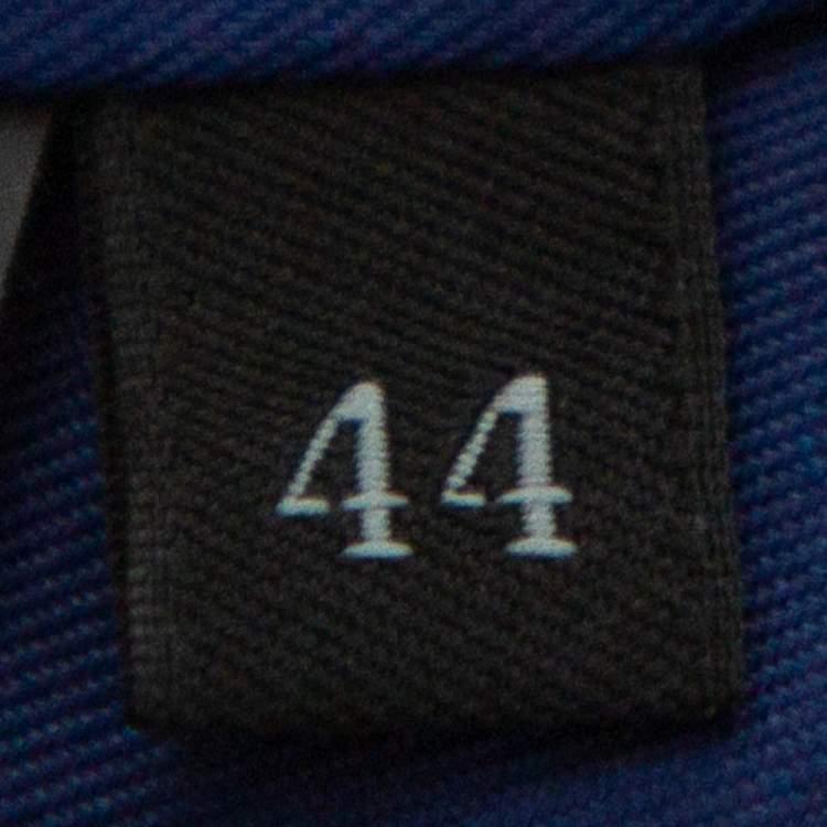 Prada Navy Blue Wool Button Front Coat M