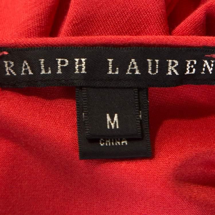 Ralph Lauren Coral Pink Jersey Sleeveless Jenny Maxi Dress M