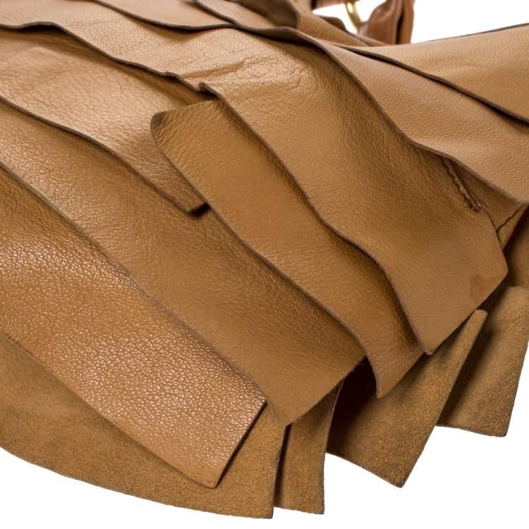 Saint Laurent Brown Leather St.Tropez Mombasa Hobo
