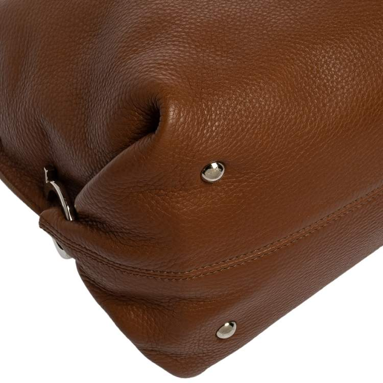 Salvatore Ferragamo Brown Leather Sofia Satchel