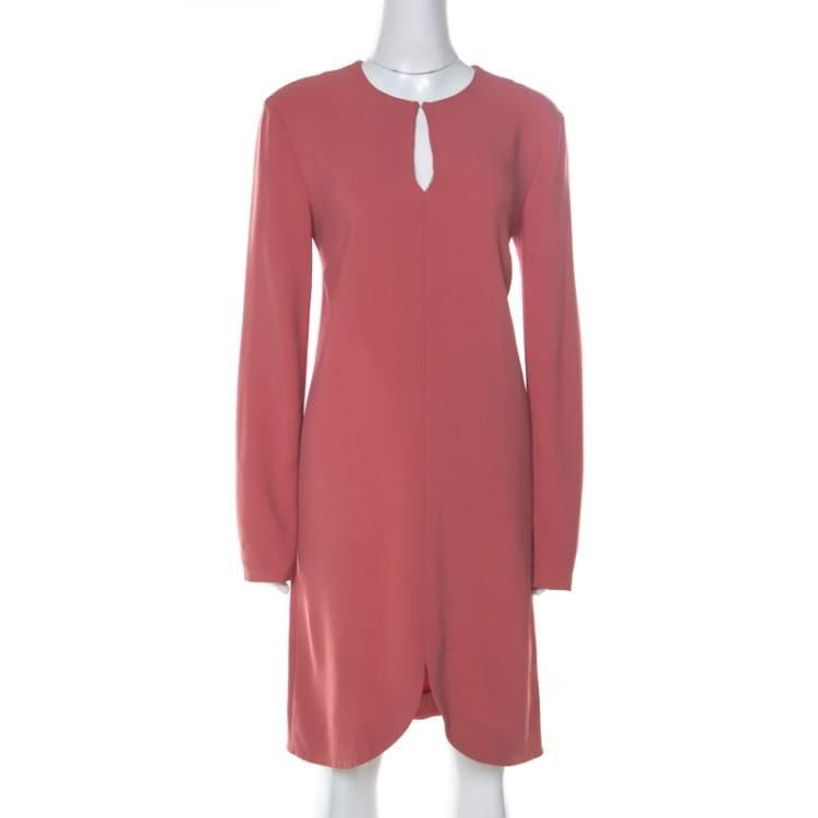Stella McCartney Pink Crepe Keyhole Detail Dress M