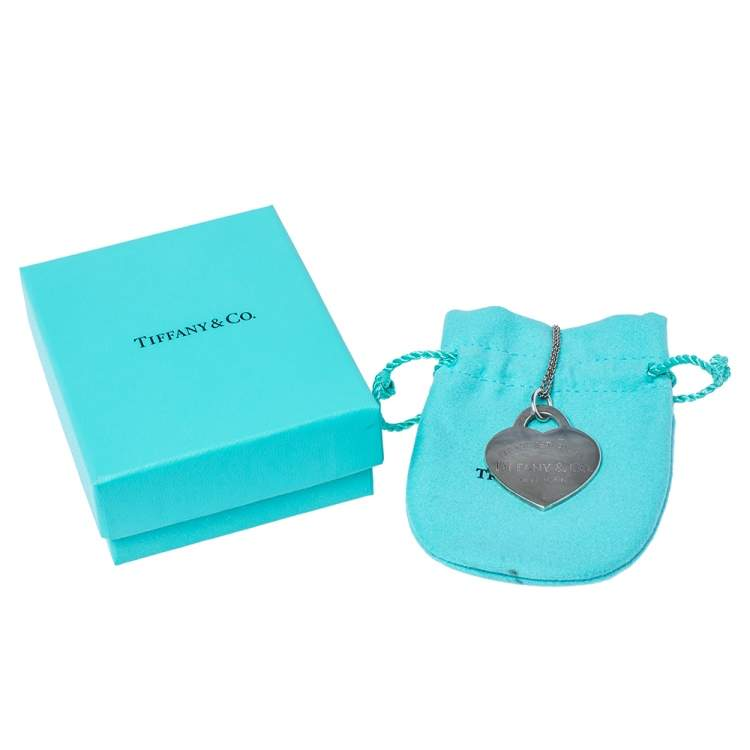 Tiffany & Co. Return To Tiffany Heart Tag Silver Extra Large Pendant Necklace