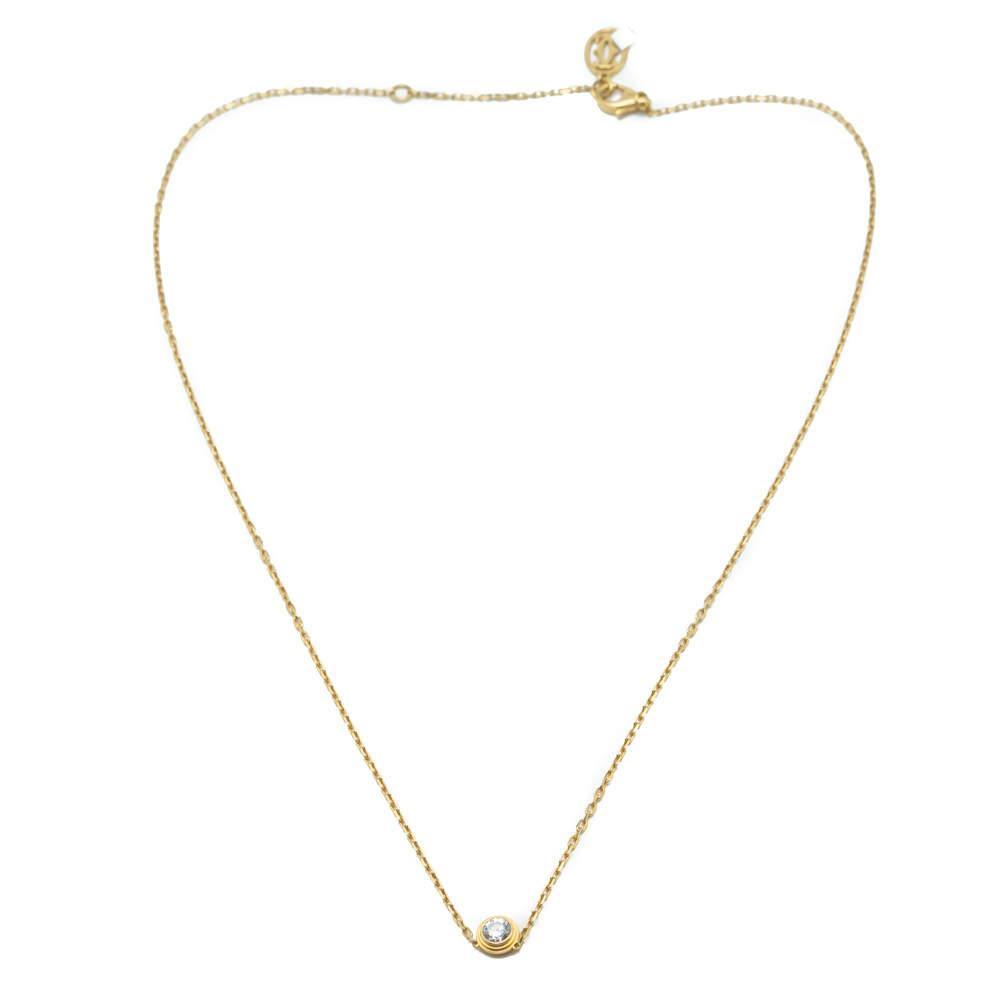 Cartier Diamants Legers Large Diamond Yellow Gold Necklace