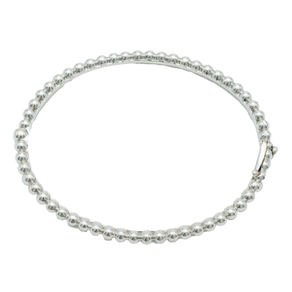 Van Cleef & Arpels Perlee Pearls White Gold Bracelet Size M