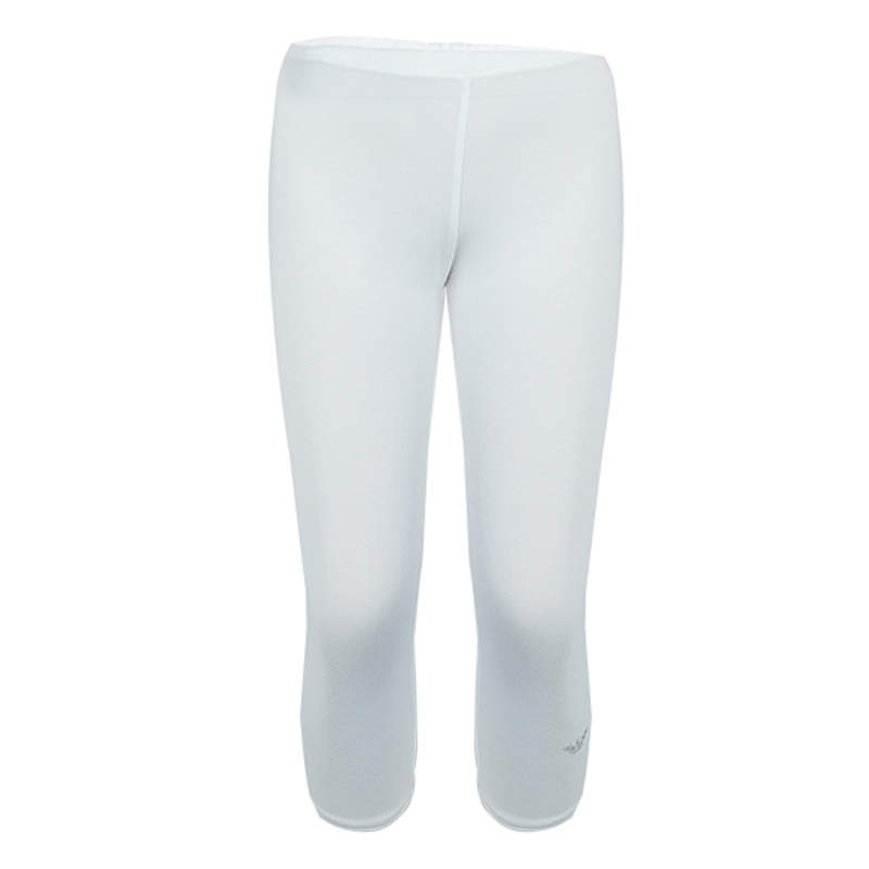 Armani Junior White Swarovski Logo Detail Leggings 5 Yrs