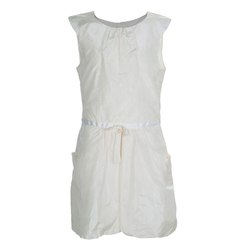 Baby Dior Cream Silk Pocket Detail Sleeveless Dress 10 Yrs