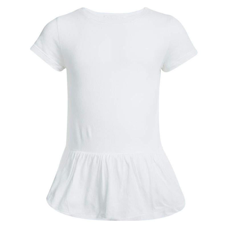 Burberry Children White Cotton Ruffle Bottom Tunic 7 Yrs