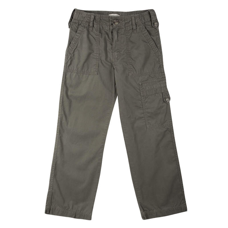 Burberry Olive Green Overdyed Cotton Cargo Pants 8 Yrs