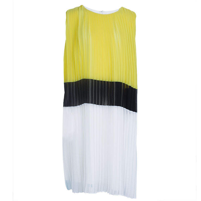 Dior Colorblock Pleated Sleeveless Dress 12 Yrs