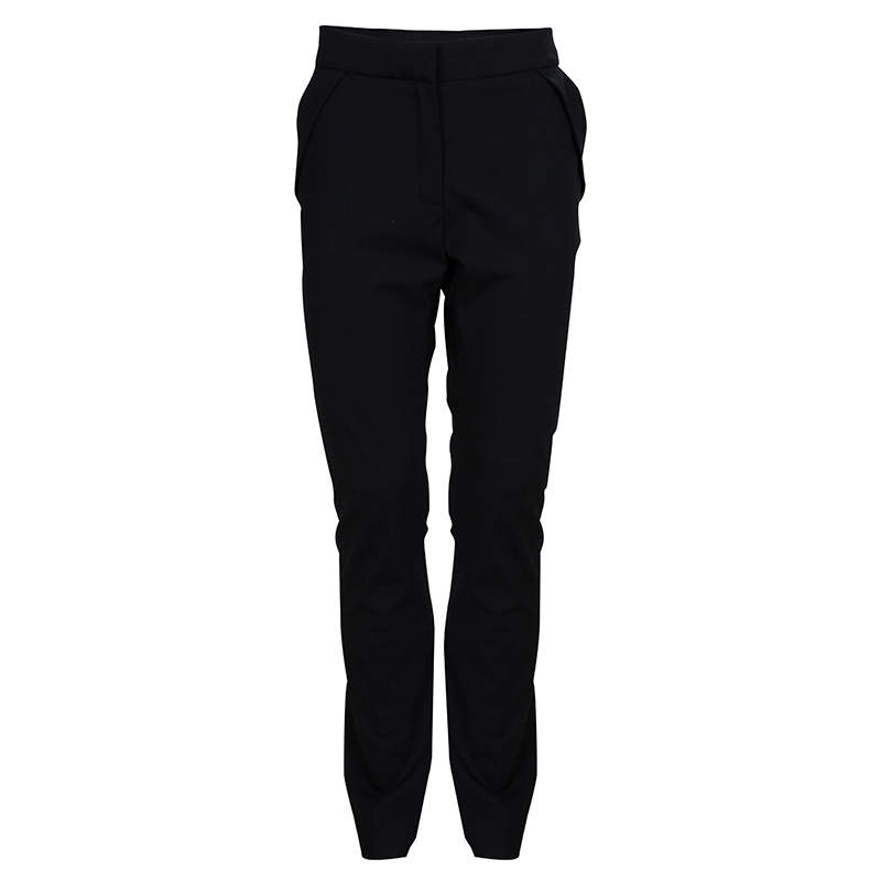 Dior Black Wool Tapered Trousers 10 Yrs