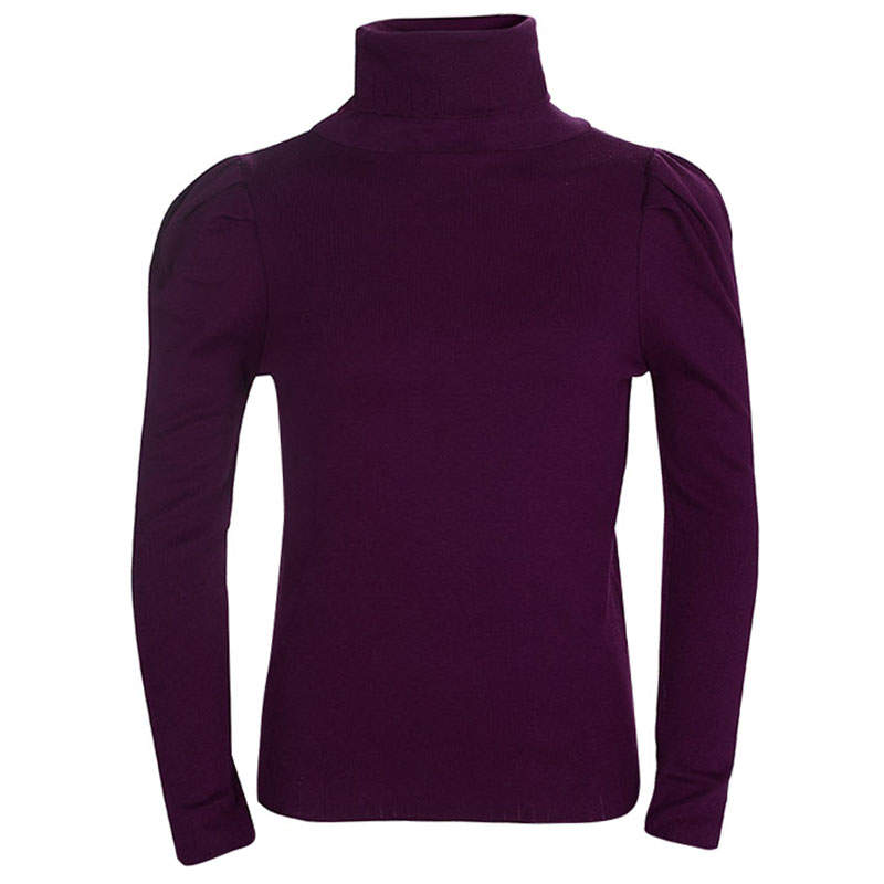 Dior Burgundy Knit Turtleneck Long Sleeve Top 8 Yrs