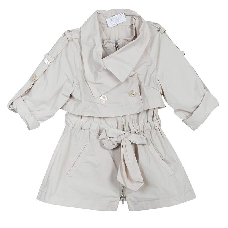 Scervino Street Girls Beige Trench Coat 6 Yrs