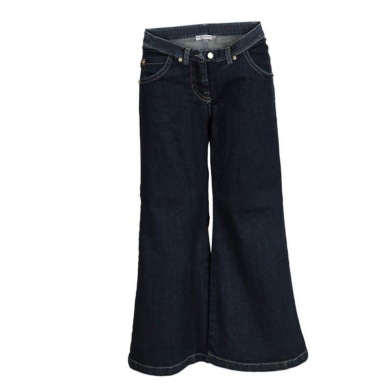 Ermanno Scervino Junior Indigo Dark Wash Denim Flared Jeans 8 Yrs
