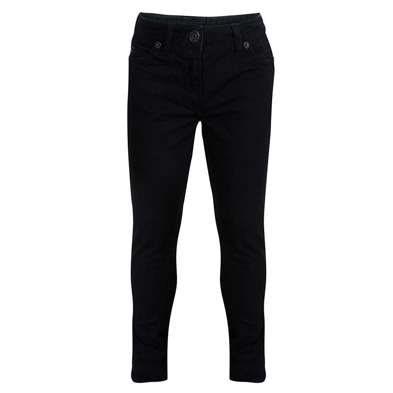 Little Marc Jacobs Black Zip Detail Skinny Jeans 6 Yrs