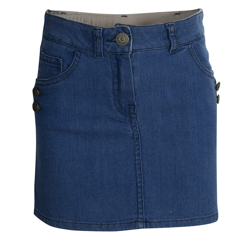 Little Marc Jacobs Indigo Denim Mini Skirt 10 Yrs